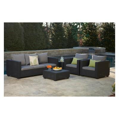 Merveilleux Salta Outdoor Resin Patio 3 Seat Sofa With Cushions   Keter : Target
