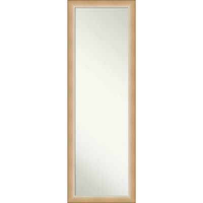 "17"" x 51"" Eva Ambre Framed On the Door Mirror Gold - Amanti Art"