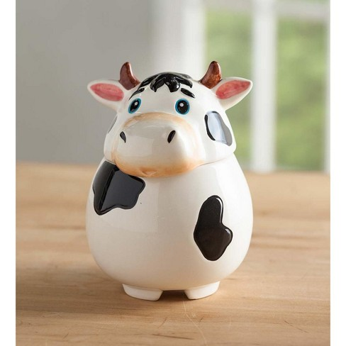 Painted Ceramic Cow Fruit Fly Trap - Plow & Hearth - image 1 of 1