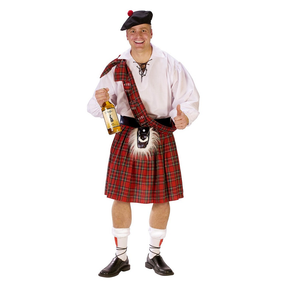 Men's Big Shot Scot Costume One Size, Red