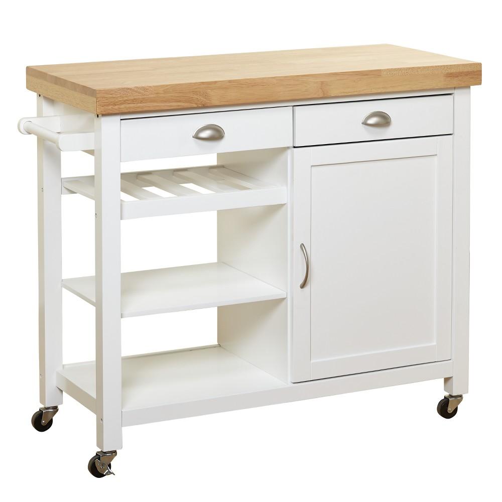 Martha Kitchen Cart - White/Natural - Buylateral