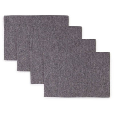 "4pk 13""X19"" Somers Placemats Gray - Town & Country Living"
