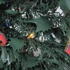 Northlight 6' Prelit Artificial Christmas Tree Gold and Red Plaid Pop-Up - Multicolor Lights - image 3 of 4