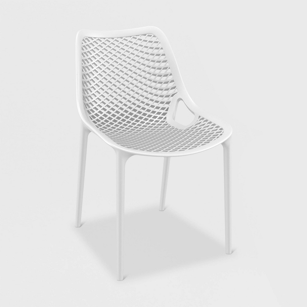 Image of Grid 4pk Patio Chair - White - RESOL