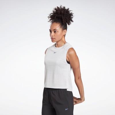 Reebok Run Jacquard Tank Top Womens Athletic Tank Tops
