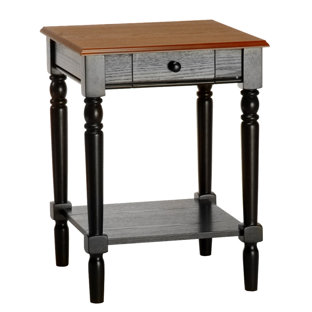 French Country End Table - Convenience Concepts