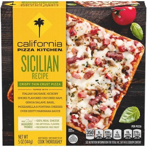 California Pizza Kitchen Sicilian Recipe Thin Crust FrozenPizza - 5oz - image 1 of 4
