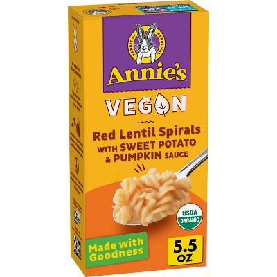 Annie's Gluten Free Vegan Red Lentil Sweet Potato Pumpkin Macaroni & Cheese - 5.5oz