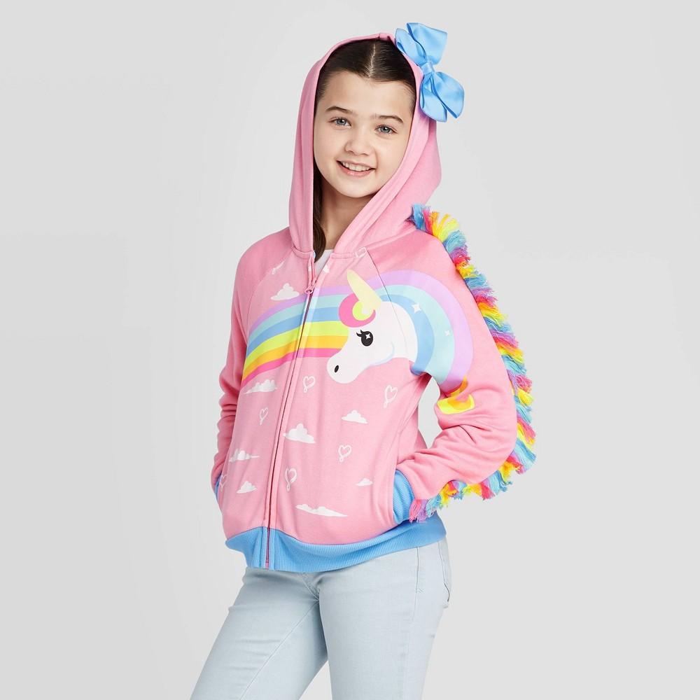 Image of Girls' JoJo Cosplay Hoodie Sweatshirt - Pink L, Girl's, Size: Large
