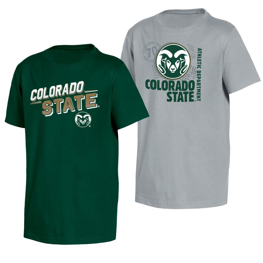 Colorado State Rams Double Trouble Toddler Short Sleeve 2pk T-Shirts 4T, Toddler Boy's, Multicolored