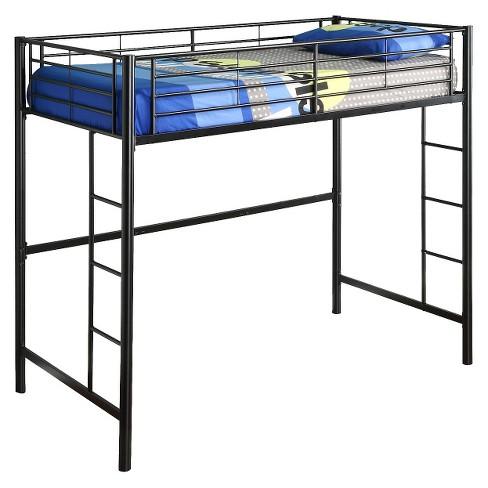 Premium Metal Twin Loft Bed Black Saracina Home Target