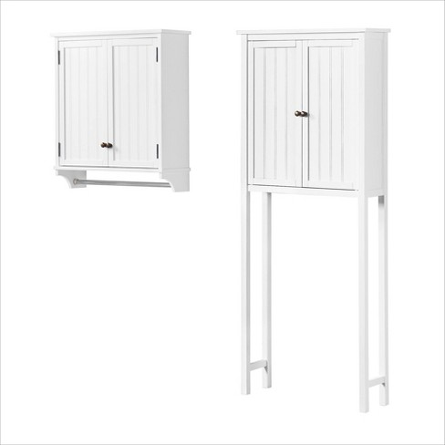 Towel Rod White Alaterre Furniture, Above Toilet Cabinet With Towel Bar