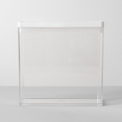 "8""W X 4""D X 8""H Plastic Food Storage Container Clear - Made By Design™"