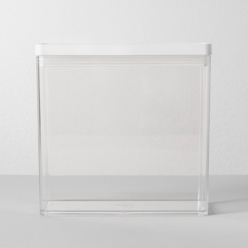"""8""""W X 4""""D X 8""""H Plastic Food Storage Container Clear - Made By Design™ - image 1 of 4"""
