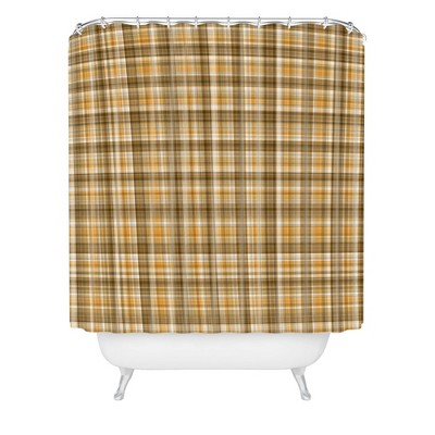 Lisa Argyropoulos Holiday Butternut Plaid Shower Curtain Brown - Deny Designs