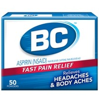 BC Fast Pain Relief Powder Packets Aspirin 50Ct