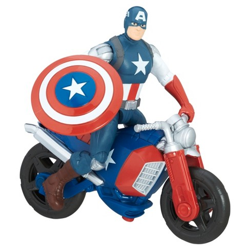 "Marvel Avengers Captain America Action Figure and Vehicle 6"" - image 1 of 2"