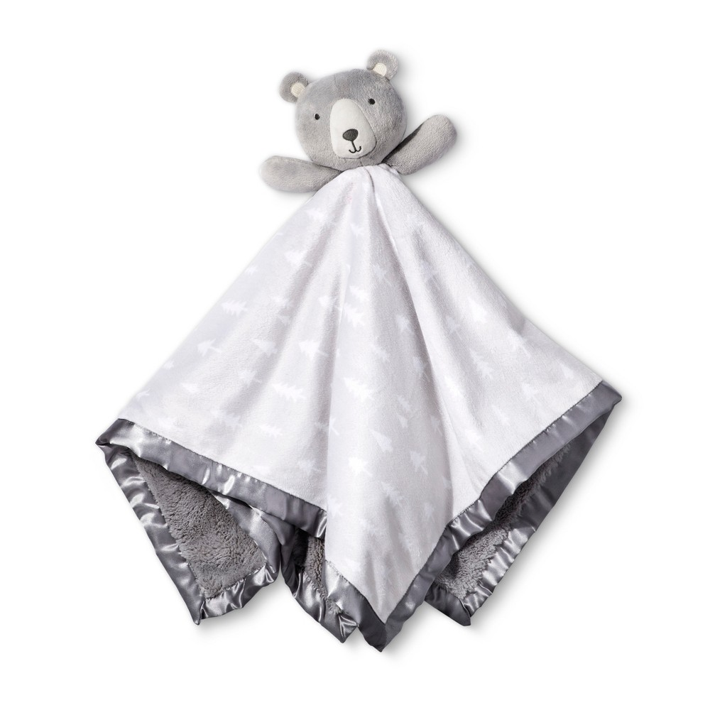 Image of Large Security Blanket Bear - Cloud Island Gray