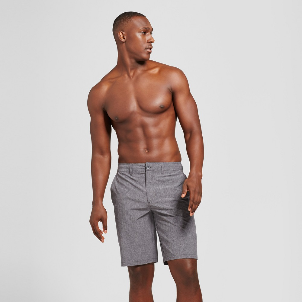 "Image of ""Men's 10.5"""" Rotary Hybrid Shorts - Goodfellow & Co Black 32"""