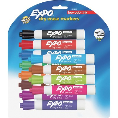 Expo Dry-erase Markers Chisel Point Nontoxic 12/ST Assorted 80699
