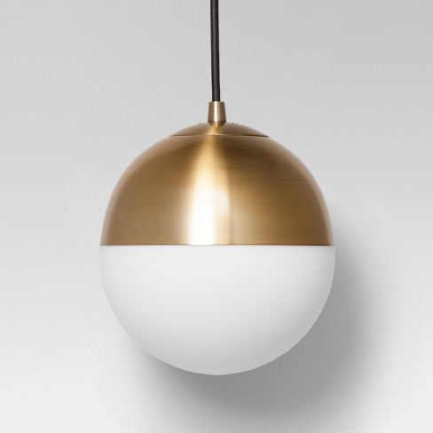 Glass Globe Pendant Ceiling Light Brass - Project 62™ - image 1 of 3