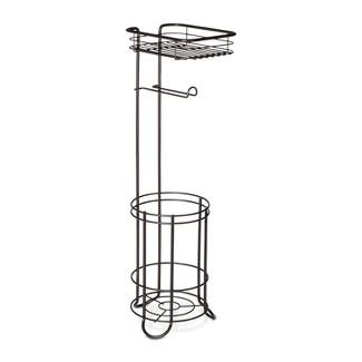 Reserve With Wire Media Shelf Freestanding Toilet Tissue Holder Bronze - Threshold™