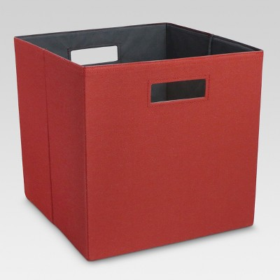 Fabric Cube Storage Bin Red 13  - Threshold™
