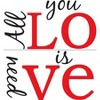WallPops® Wall Phrase All You Need Is Love - image 3 of 3