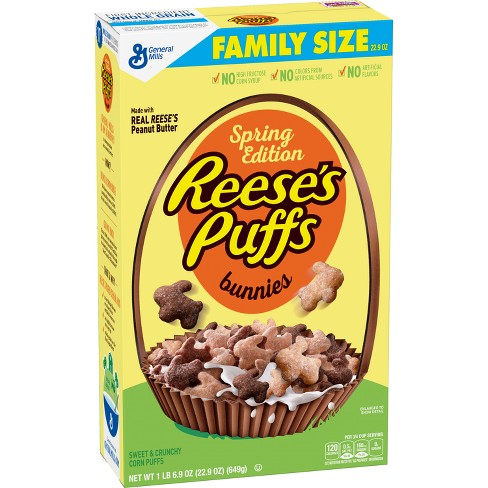 Reese's Puffs Bunnies Spring Edition Breakfast Cereal - 22.9oz - General Mills - image 1 of 1