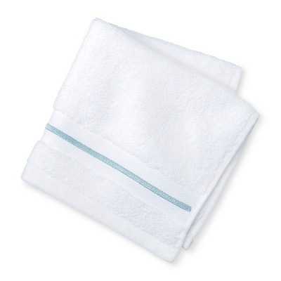 Microcotton Spa Accent Washcloth Aqua Stripe - Fieldcrest®