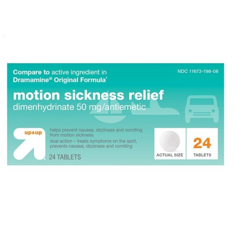 Motion Sickness Relief Tablets - 24ct - Up&Up™ - image 1 of 2