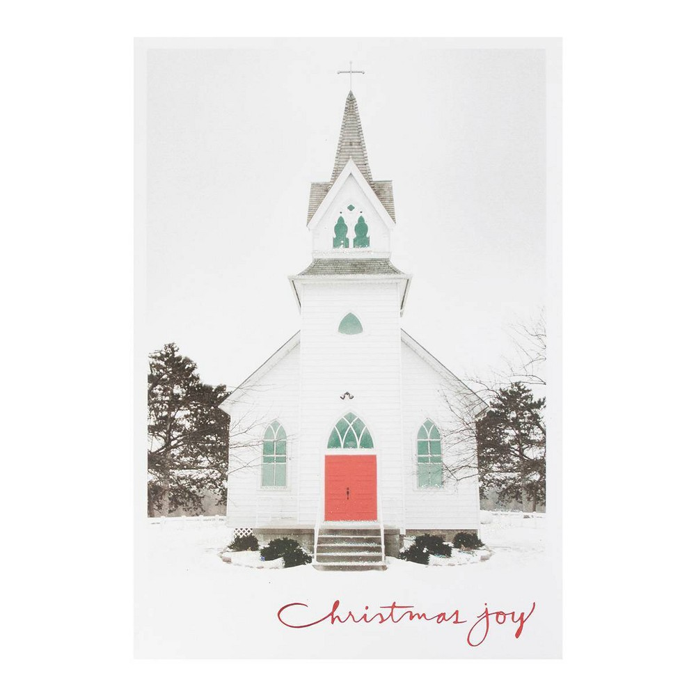 Image of 14ct Christmas Joy Church Greeting Cards - Dayspring
