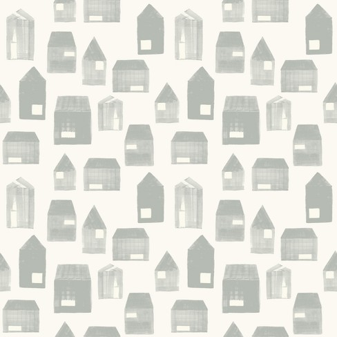 Wallpaper House Print Gray - Hearth & Hand™ with Magnolia - image 1 of 1