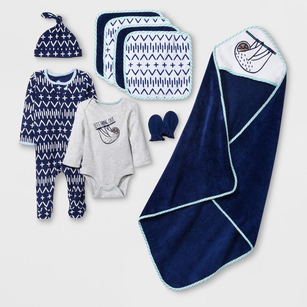 Baby Boys' 10pc Take Me Home Layette & Bath Set - Cloud Island Blue 0-3M