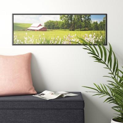 "11.75"" x 36"" Panoramic Poster Single Image Frame Black - Room Essentials™"
