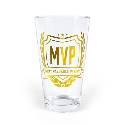 """""""MVP Most Valuable Parent"""" Father's Day Pint Glass - Fred & Friends"""