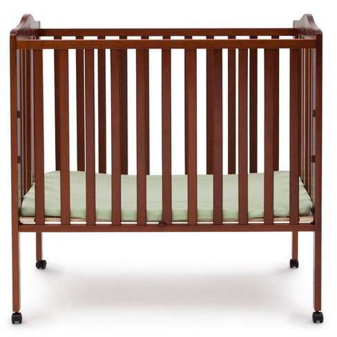 Delta Children Folding Portable Mini Baby Crib with 1.5'' Mattress, Greenguard Gold Certified - image 1 of 4