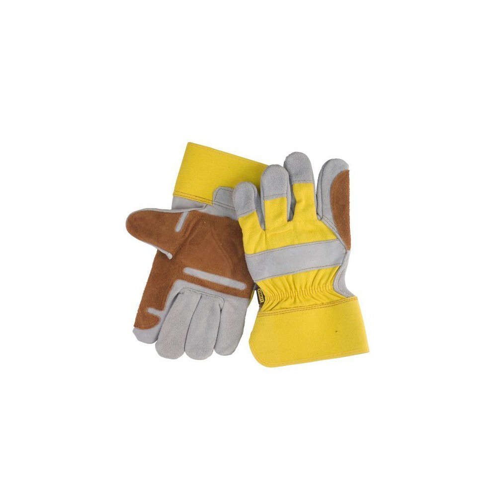 Black+decker Large Double Leather Palm Work Glove