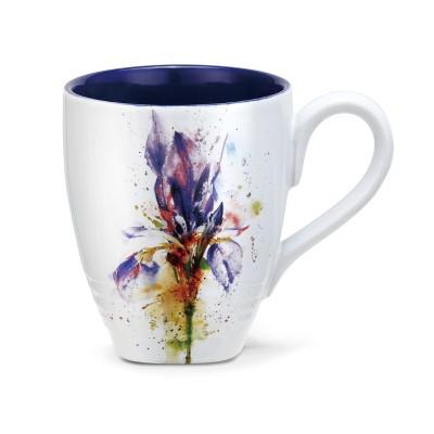 DEMDACO Iris Mug by Dean Crouser 12 Ounce - Purple