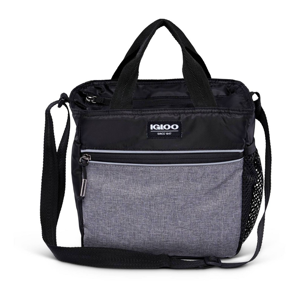 Image of Igloo 9 Can Balance Mini City Cooler Lunch Tote- Gray/Black