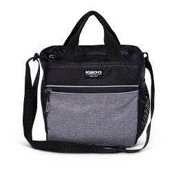 Igloo 9 Can Balance Mini City Cooler Lunch Tote- Gray/Black