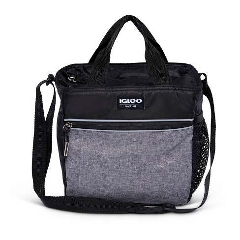 Igloo 9 Can Balance Mini City Cooler Lunch Tote- Gray/Black - image 1 of 4