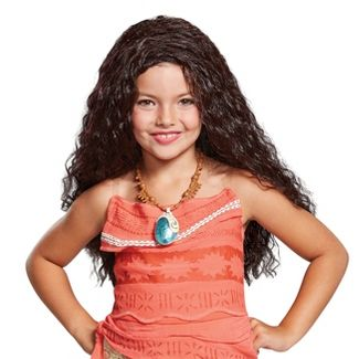Girls' Moana Halloween Costume Wig