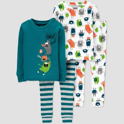 Toddler Boys' 4pc Monster Pajama Set - Just One You® made by carter's 2T