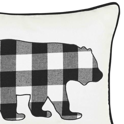 Black Cabin Plaid Bear Throw Pillow Eddie Bauer Target