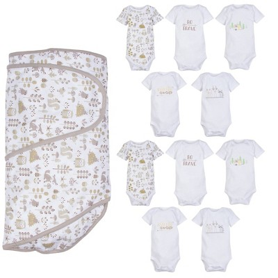 Miracle Blanket Bodysuit Set - Foxes 10pc