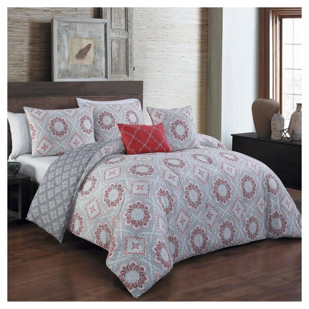 Red Tova Comforter Set (Queen) 5pc