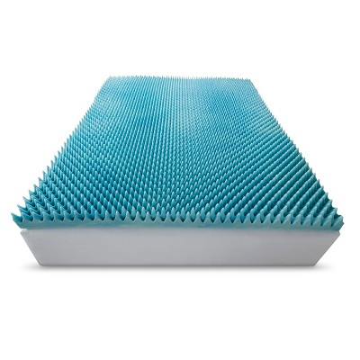 ComforPedic Loft from Beautyrest 4  Gel Textured Memory Foam Topper - White (King)