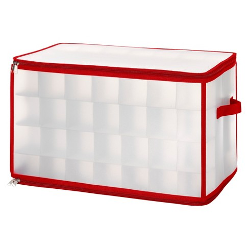 Whitmor Zipper Cube Christmas Ornament Organizer - Red (Large) - image 1 of 2