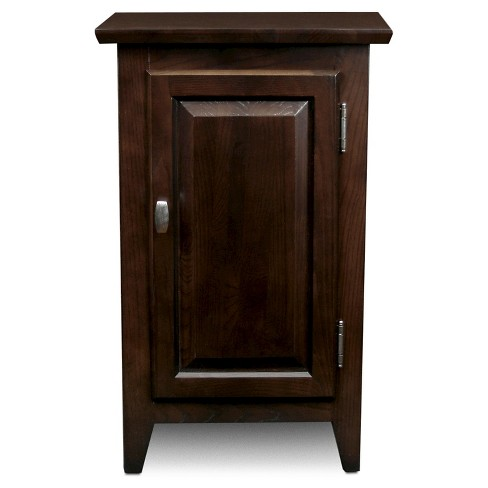 Favorite Finds Cabinet Storage End Table Chocolate Oak Finish Leick Home Target
